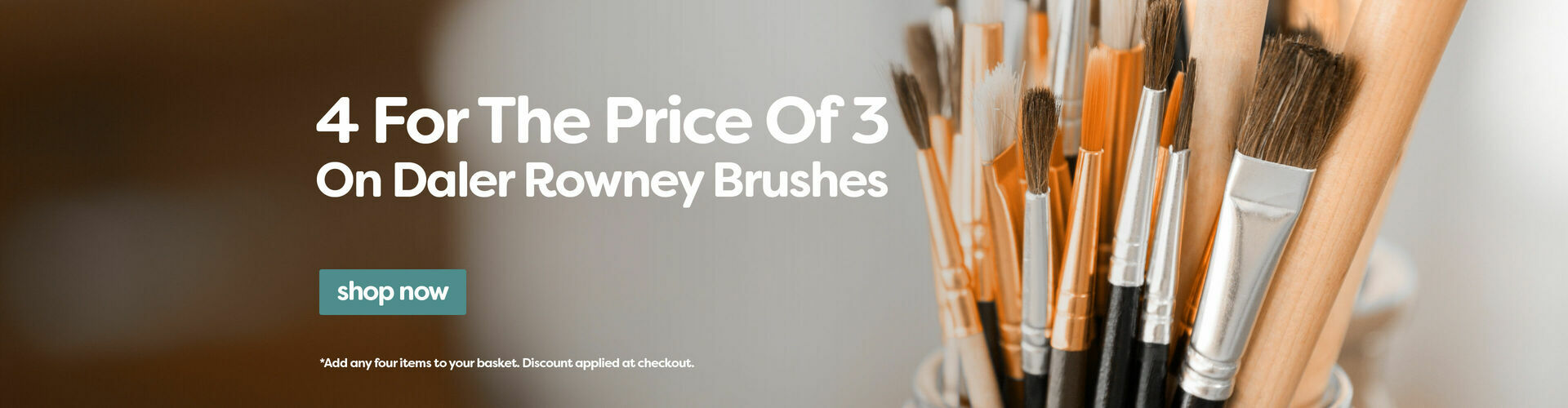 4 For 3 Paint Brushes