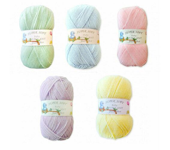 Pale Yellow BB9 James C Brett Super Soft Knitting Wool Yarn 100g Baby DK