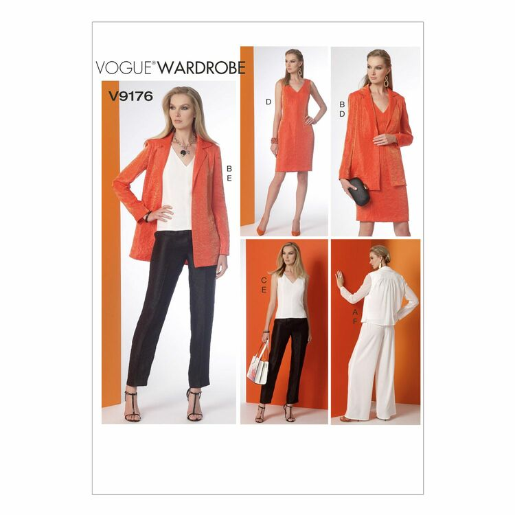 Vogue Sewing Pattern V9176 (Misses Jacket/Top/Dress/Pants) from £14.75