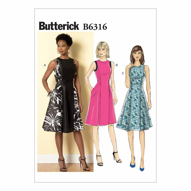 Butterick Sewing Pattern B6316 (Misses Dress) from £9.50