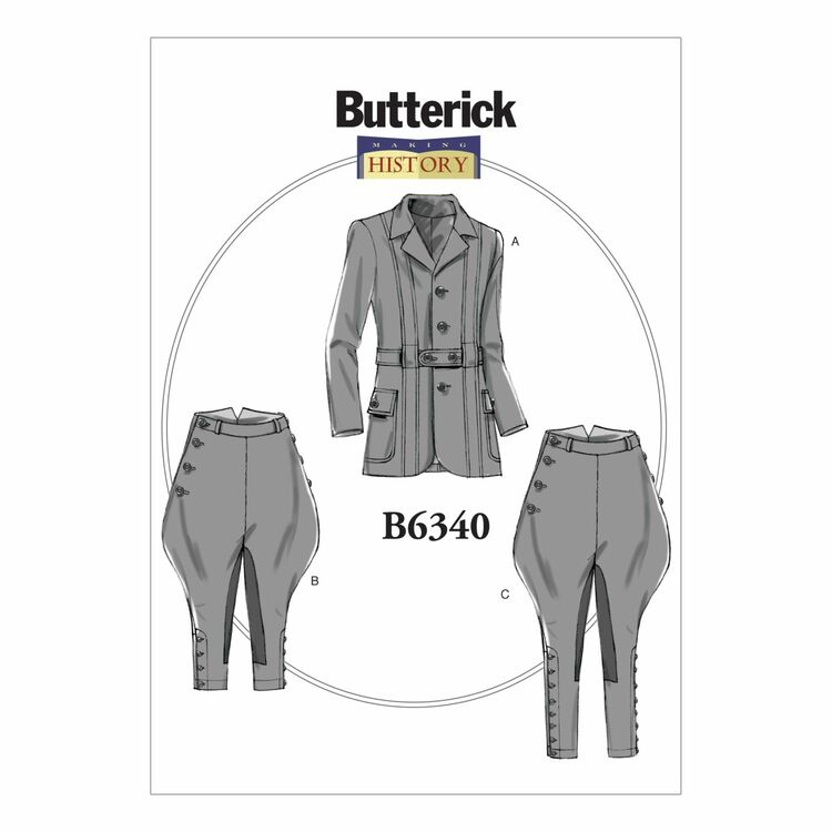Butterick Making History Sewing Pattern B6340 (Mens Jacket/Breeches ...