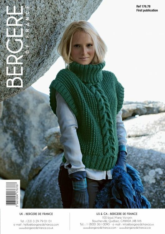 Bergere de France Women\'s Sleeveless Sweater PATTERN - 17678 only £3.00