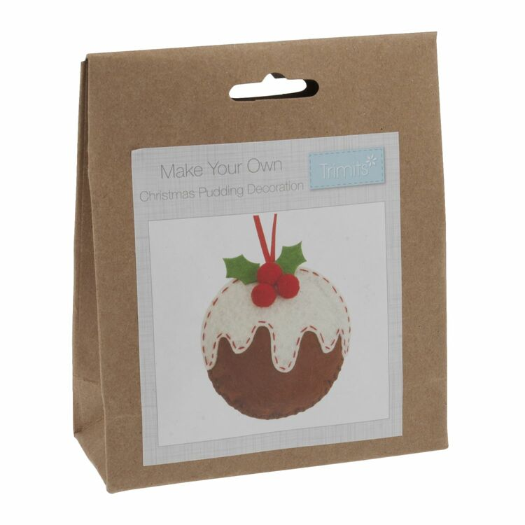 Trimits Felt Christmas Decoration Kit Christmas Pudding