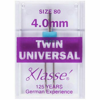 Klasse: Sewing Machine Needles: Twin Universal: 80/4mm: 1 Piece