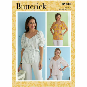 Butterick Pattern B6733 Misses Button-Front Top