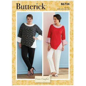 Butterick Pattern B6734 Women's Pullover Tops