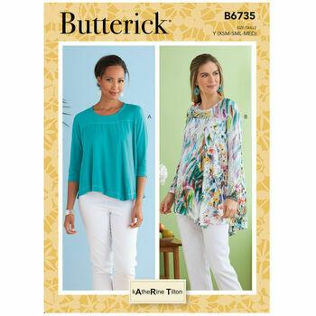 Butterick Pattern B6735 Misses Sleeve Tops