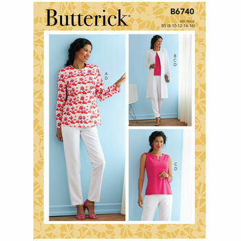 Butterick Pattern B6740 Misses Outfit