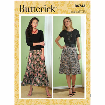 Butterick Pattern B6743 Flared Skirts