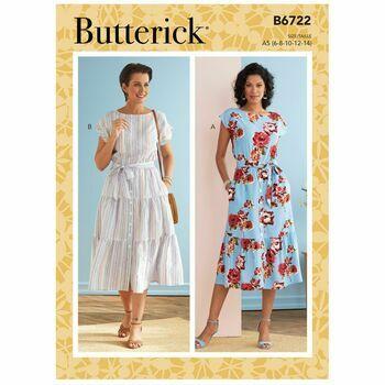 Butterick Pattern B6722 Misses Dresses