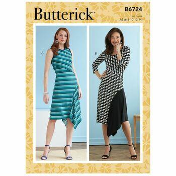 Butterick Pattern B6724 Asymmetric Dresses