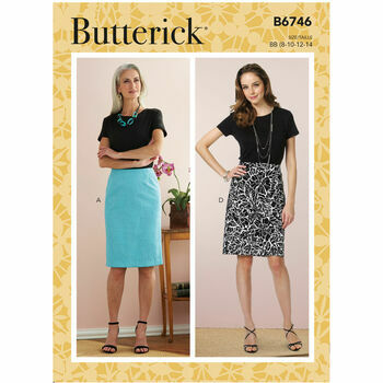 Butterick Pattern B6746 Straight Skirts
