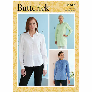 Butterick Pattern B6747 Misses Fitted Shirts