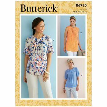 Butterick Pattern B6730 Neckline Tuck Tops