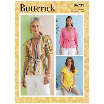 Butterick Pattern B6731 Misses V-Neck Tops