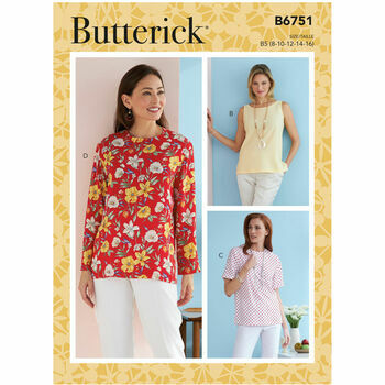 Butterick Pattern B6751 Misses Pullover Tops
