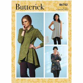 Butterick Pattern B6752 Misses Knit Tunics
