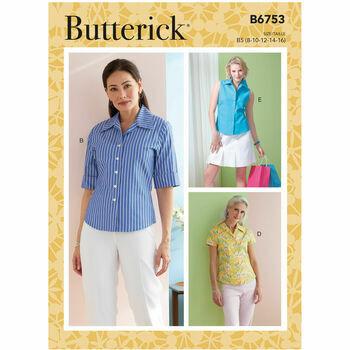 Butterick Pattern B6753 Misses Semi-Fitted Shirt