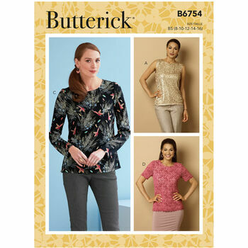 Butterick Pattern B6754 Semi-Fitted Pullover Top