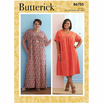 Butterick Pattern B6755 Misses Asymmetrical Detail Tunics