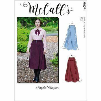 McCall's Pattern M8071 Misses Historical Skirt