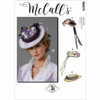 McCall's Pattern M8076 Misses Historical Hats