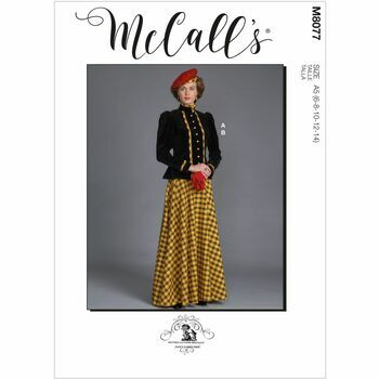 McCall\'s Pattern M8077 Misses Historical Jacket & Skirt
