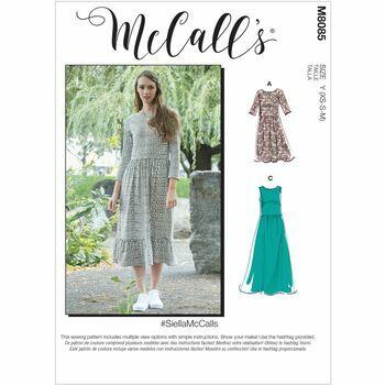 McCall's Pattern M8085 Misses Dresses