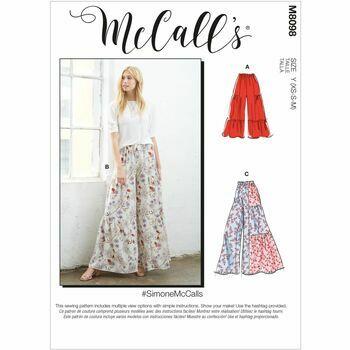 McCall\'s Pattern M8098 Misses Pants