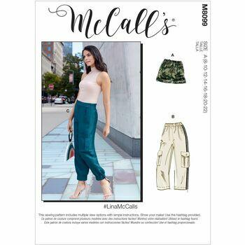 McCall's Pattern M8099 Misses Shorts & Pants