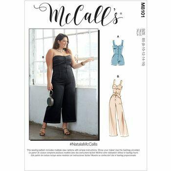McCall's Pattern M8101 Misses & Women's Romper, Jumpsuit & Belt
