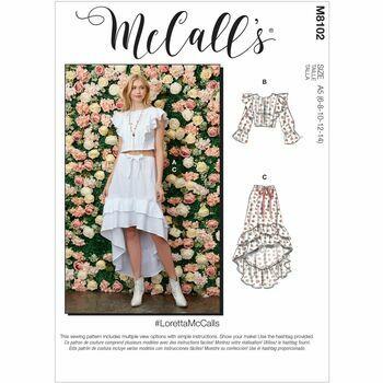 McCall's Pattern M8102 Misses Tops & Skirt
