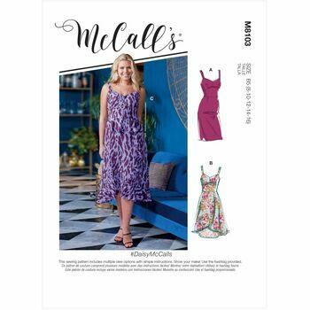 McCall's Pattern M8103 Misses & Women's Dresses