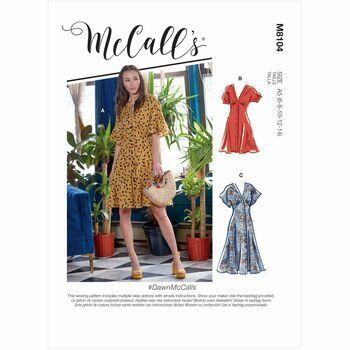 McCall\'s Pattern M8104 Misses Dresses