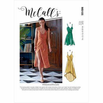 McCall's Pattern M8105 Misses Dresses