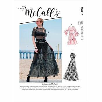 McCall's Pattern M8110 Misses Dresses