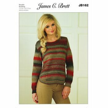 James C Brett Marble DK Knitting Pattern JB162 Ladies Sweater