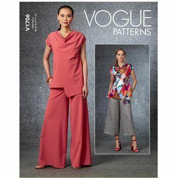 Vogue Pattern V1706 Misses Top & Pants
