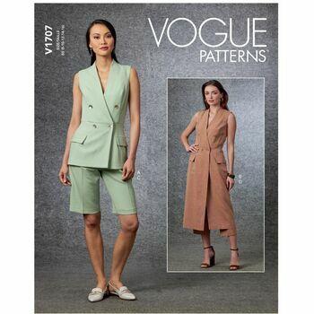 Vogue Pattern V1707 Misses Vest, Shorts & Pants