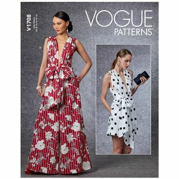 Vogue Pattern V1708 Misses Jumpsuit