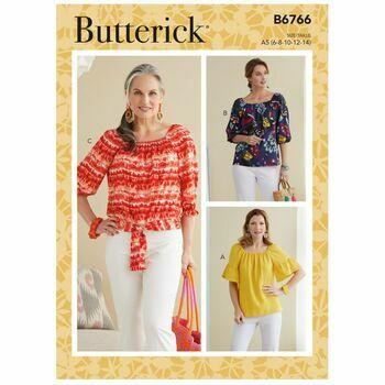 Butterick Pattern B6766 Misses Tops