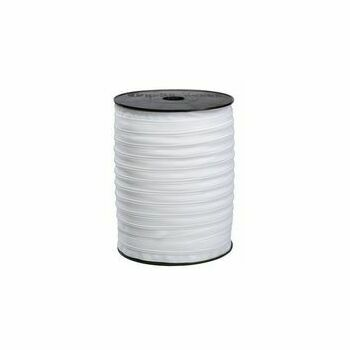 Coats 6mm White Medium Weight Zipping: Per Metre