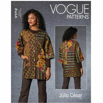 Vogue Pattern V1712 Women's Patchwork Jacket