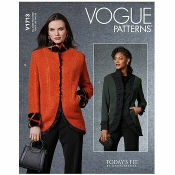 Vogue Pattern V1713 Mandarin Collar Jacket