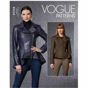 Vogue Pattern V1714 Women\'s Peplum Jacket