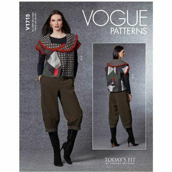 Vogue Pattern V1715 Women's Vest & Pants