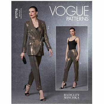Vogue Pattern V1716 Women's Blazer, Belt & Pants