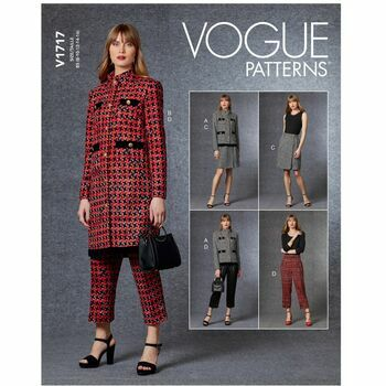 Vogue Pattern V1717 Women's Jacket, Skirt & Pants