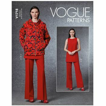 Vogue Pattern V1718 Women\'s Jacket, Tunic & Pants