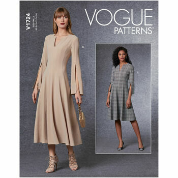 Vogue Pattern V1724 Close-Fitting Dress